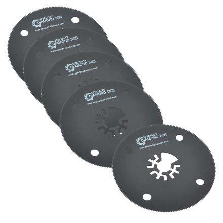 Versa Tool DB5H 80mm Circular Saw Blades Compatible with Fein Multimaster, Dremel, Bosch, Craftsman, Ridgid Oscillating Tools - 5 Pack