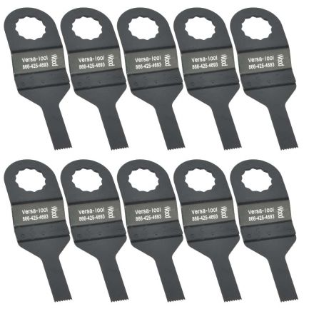 Versa Tool FB10G 10mm Stainless Steel Multi-Tool Saw Blades 10/Pack Fits Fein Supercut Oscillating Tools