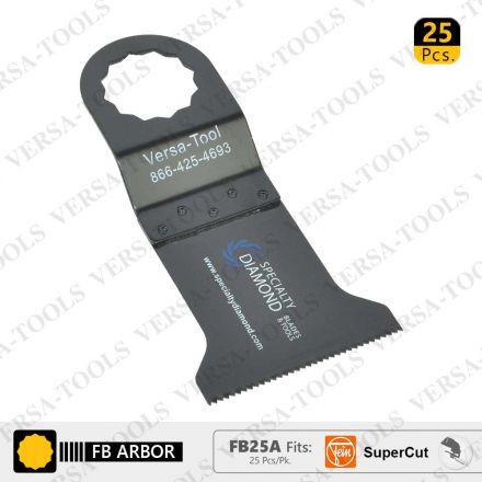 Versa Tool FB25A 45mm Wood / Plastic Multi-Tool Saw Blades 25/Pack Fits Fein Supercut Oscillating Tools