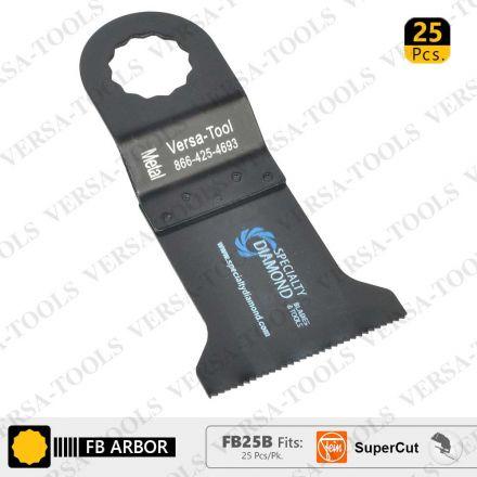 Versa Tool FB25B 45mm Bi-Metal Multi-Tool Saw Blades 25/Pack Fits Fein Supercut Oscillating Tools