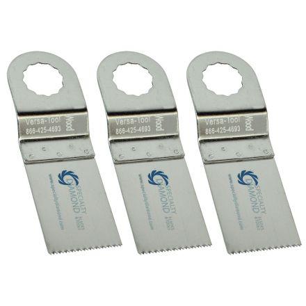 Versa Tool FB3E-D 30mm Stainless Steel Multi-Tool Saw 3 Blade Pack Fits Fein Supercut Oscillating Tools
