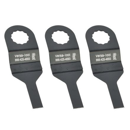 Versa Tool FB3G-D 10mm Stainless Steel Multi-Tool Saw 3 Blade Pack Fits Fein Supercut Oscillating Tools