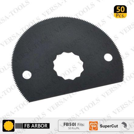 Versa Tool FB50I 80mm HSS Semi-Circular Multi-Tool Saw Blades 50/Pack Fits Fein Supercut Oscillating Tools