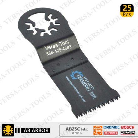 Versa Tool AB25C 35mm Japan Cut Tooth HCS Multi-Tool Saw Blades 25/Pk Fits Fein Multimaster, Dremel, Bosch, Craftsman, Ridgid Oscillating Tools