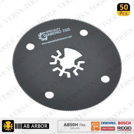 Versa Tool AB50H 80mm HSS Circular Multi-Tool Saw Blades 50/Pk Fits Fein Multimaster, Dremel, Bosch, Craftsman, Ridgid Oscillating Tools