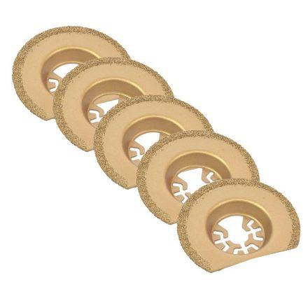 Versa Tool DB5K 63mm Semi-Circular Carbide RASP, 8mm Offset Mount Fits Fein Multimaster, Dremel, Bosch, Craftsman, Ridgid Oscillating Tools 5/Pk