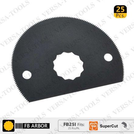Versa Tool FB25I 80mm HSS Semi-Circular Multi-Tool Saw Blades 25/Pack Fits Fein Supercut Oscillating Tools