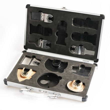 Versa Tool OBMASTER Master Kit Includes 13 Universal / Open Arbor Blades for Oscillating Tools